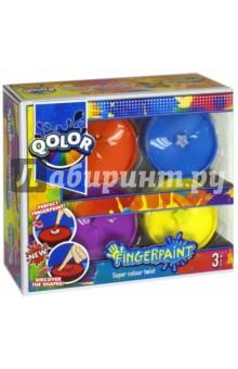 Пальчиковые краски с формами (4 цветов) (998-17) краски спейс краски пальчиковые 6 цветов сенсорные