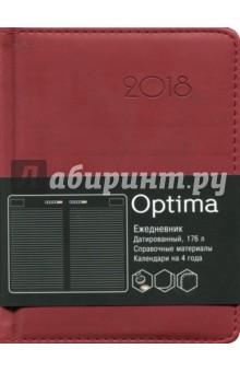 Ежедневник 2018 г. Optima. Бордо (датированный, 176 листов, А6) (ЕКО61817602) brunnen ежедневник датированный вояж размер блока 10х19 3 см ля фонтейн бордо