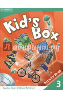 Kid's Box Level 3 Activity Book with CD-ROM watts m the jungle book the cobra s egg level 1 cd