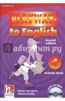 Playway to English Level 4 Activity Book with CD-ROM english world level 7 workbook cd