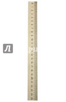 Линейка деревянная, 25 см (ЛМП 250)