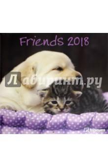 Календарь 2018 Друзья 30*30 (95283)