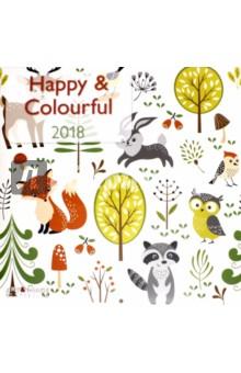 Календарь 2018 Happy&Colourful 30*30 (95613) eglo alvendre s 95613