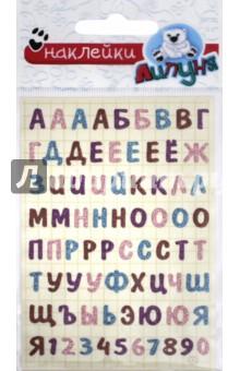 Блестящие наклейки Алфавит (GS025) другие материалы 10