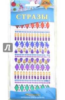 Декоративные стразы самоклеящиеся. Капельки (С3101) набор для творчества стразы рисинки 180шт 8мм черные в блистере