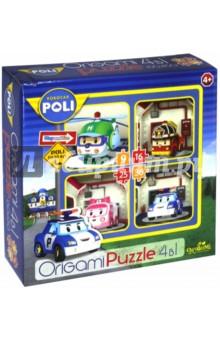 Пазл-набор Робокар Поли. Посадка (4 в 1) (00227) робокар поли 4 выпуска 4 dvd
