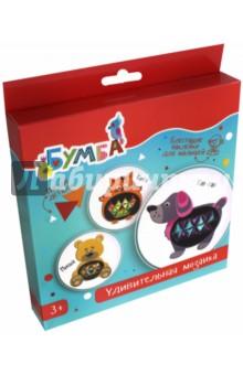 Купить Удивительная мозаика с фольгированными наклейками Зверюшки (vs-12), Bumbaram, Мозаика