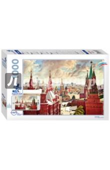 Puzzle-1000 Москва (79701) пазл карта россии большой пазл большой страны 204 элемента