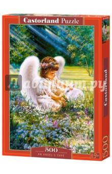 Puzzle-500 Ангел с зайкой (B-52820) puzzle 500 замок словакия в 51489