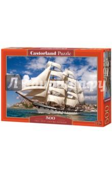 Puzzle-500 Корабль в гавани (B-52851) puzzle 500 замок словакия в 51489