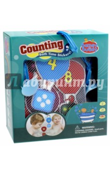 Стикеры для ванны Учимся считать (BB010) barneybuddy barneybuddy игрушки для ванны стикеры замок принцессы