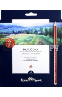 Карандаши цветные, 18 цветов Multicolor (30-0003) блокноты bruno visconti блокнот а5 megapolis flex