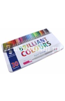 Набор капиллярных ручек, 30 цветов Triplus (334M30) staedtler набор капиллярных ручек triplus 3 цвета