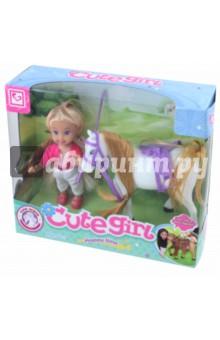 Кукла с лошадкой в коробке 20,3*17,5*6 см (MX0111318) кукла tongde td t67 d1092