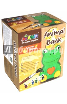 Набор для росписи копилки Лягушка (AL2019) набор для детского творчества набор веселая кондитерская 1 кг