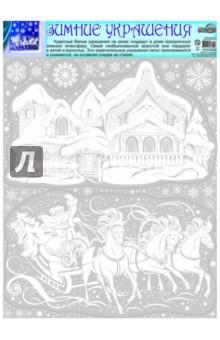 Зимние украшения на окна