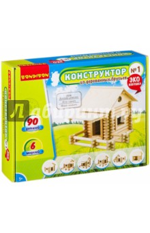 Купить Конструктор из деревянных брусьев №1 (ВВ2601), BONDIBON, Конструкторы из дерева