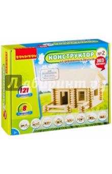 Купить Конструктор из деревянных брусьев №2 (ВВ2602), BONDIBON, Конструкторы из дерева