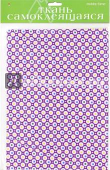 Ткань самоклеящеяся, 2 листа, А4 ГОРОШЕК, ЗОНТ 4 вида (2-260/03) бумага цв а4 20л 10цв хобби тайм 2 вида