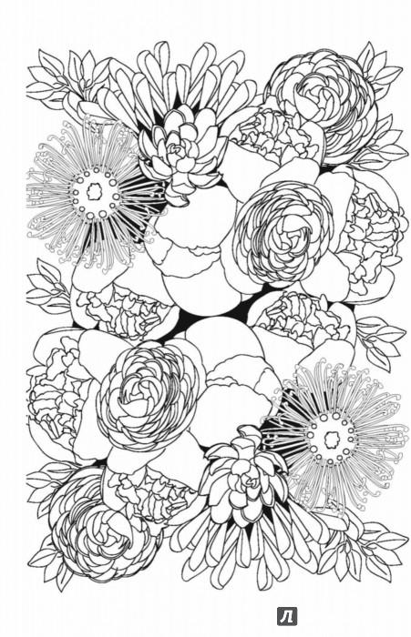 Иллюстрация 6 из 20 для Волшебные цветы. Мини-раскраска ...