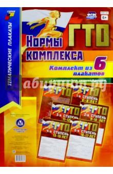 Нормы комплекса ГТО. Комплект из 6-ти плакатов с методическим сопровождением. ФГОС комплект плакатов с методическим