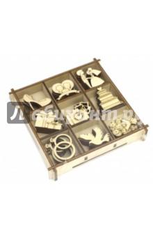 Набор украшений в коробке Свадебный  №1 сайга 12 4 1 приклад по типу свд фанера ствол 580 мм купить