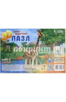Купить Жираф. 3D пазл деревянный для детей, Геодом, Объемные пазлы
