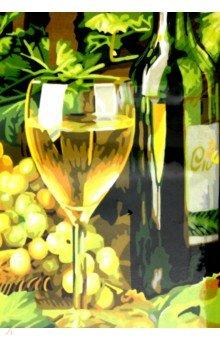 Раскраска по номерам Белое вино (40х50 см) (S 544) наборы для рисования цветной раскраски по номерам сова голова