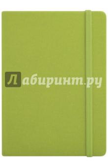 Записная книга на резинке, 96 листов, 145*205 ДЖИНС САЛАТОВЫЙ (45733) блокнот на греческом побережье на резинке а5