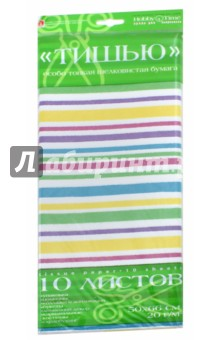 Бумага цветов, 10 листов,ТИШЬЮ, ПОЛОСКА (2-145/01) бумага цветная 16 листов 8 цветов односторонняя shopkins