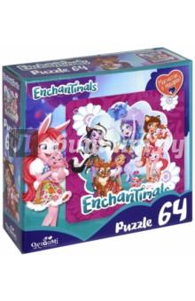 Enchantimals. Пазл-64+магнитик Волшебные подружки (03559) enchantimals пазл 90 магнитик fur ever besties 03552
