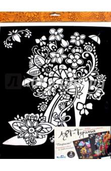 Картина-раскраска 2шт Париж (03158) набор для творчества 3d пазл для раскрашивания арт терапия спасская башня