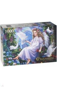 Puzzle-1000 Ангелочек и голуби (FPZ1000-9925) пазлы origami пазл дм зайчик и волчонок 25 элементов