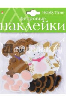 Декоративные наклейки из фетра КОТЯТА, ЩЕНЯТА 2 вида (2-093/05) чехол для карточек авокадо дк2017 093