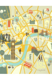 Тетрадь на кольцах 120 листов Карта Лондона (ПБФ1204394) тетрадь flowers 120 листов на кольцах n813