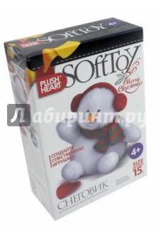 Купить Набор для творчества Плюшевое сердце. Снеговик (457071), Фантазер, Изготовление мягкой игрушки