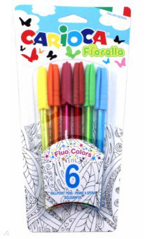 Набор шариковых ручек, 6 цветов Fiorella (42774) набор шариковых ручек автоматическая