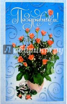 Т4-118/Поздравляем/открытка двойная.