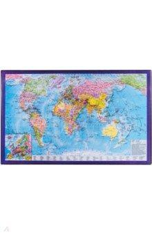 Коврик-подкладка для письма А2 с картой мира (236777)