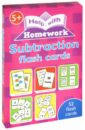 Subtraction (52 flash cards)