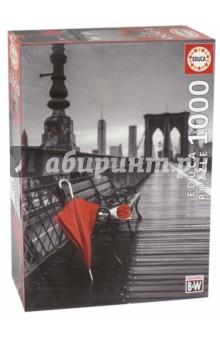 Пазл-1000 Красный зонт, Бруклинский мост (17691) пазл 1000 томас кинкейд мост 57466