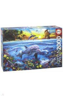 Купить Пазл-2000 Семья дельфинов (17672), Educa, Пазлы (2000 элементов и более)