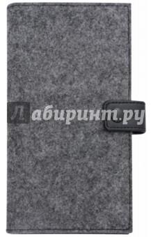 Органайзер-обложка для путешествий (фетр, 200х110 мм, графитово-черный) (45280)