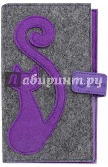 Органайзер-обложка для путешествий (фетр, 200х110 мм, графитово-фиолетовый) (45285)