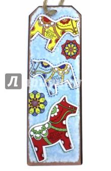 Закладка для книг Лошадки (77078) закладка для книг колокольчик
