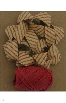 Zakazat.ru: Набор для оф подарков: бант+лента красные крафт (76945).
