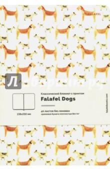 Блокнот A5 40 листов, нелинованный. Dogs кремовая бумага (403784).