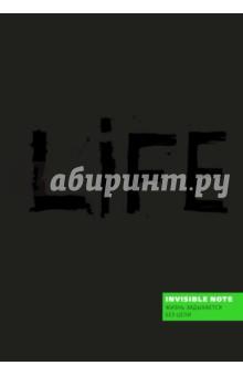 Блокнот Invisible note. LIFE. Жизнь задыхается без цели, А5, нелинованный orange note творческий блокнот а5