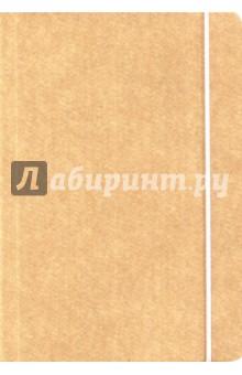 """Книга для записи """"Крафт"""" (нелинованная, 240 страниц, на резинке) (26284)"""