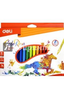 Фломастеры 18 цветов ColoRun смываемые (EC10010) фломастеры bic kids visa 18 цветов